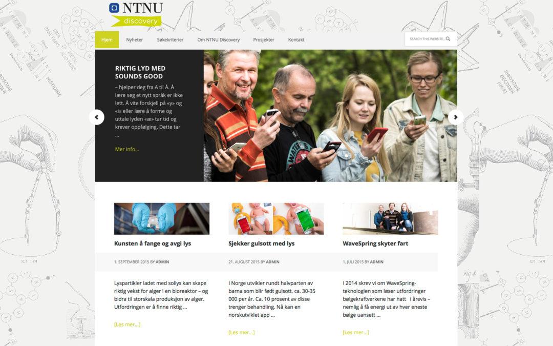 Nettside NTNU Discovery