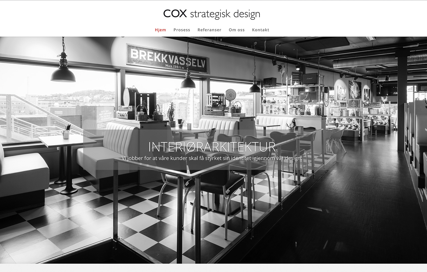 Ny nettside COX strategisk design