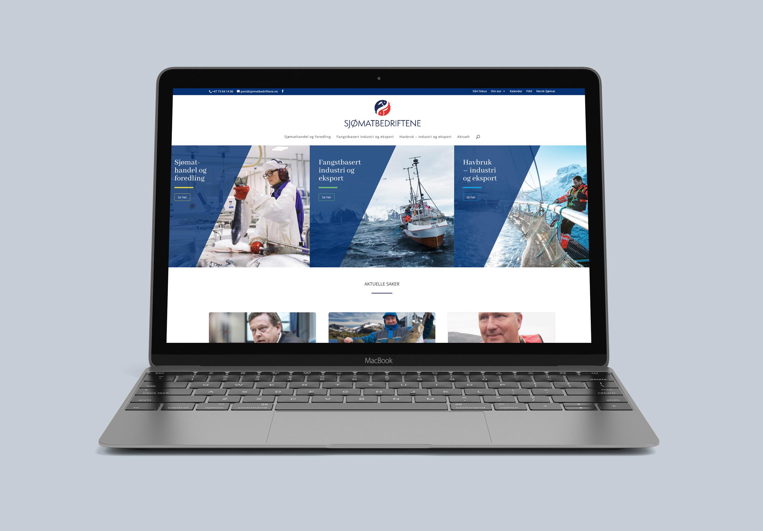 Ny nettside Sjømatbedriftene