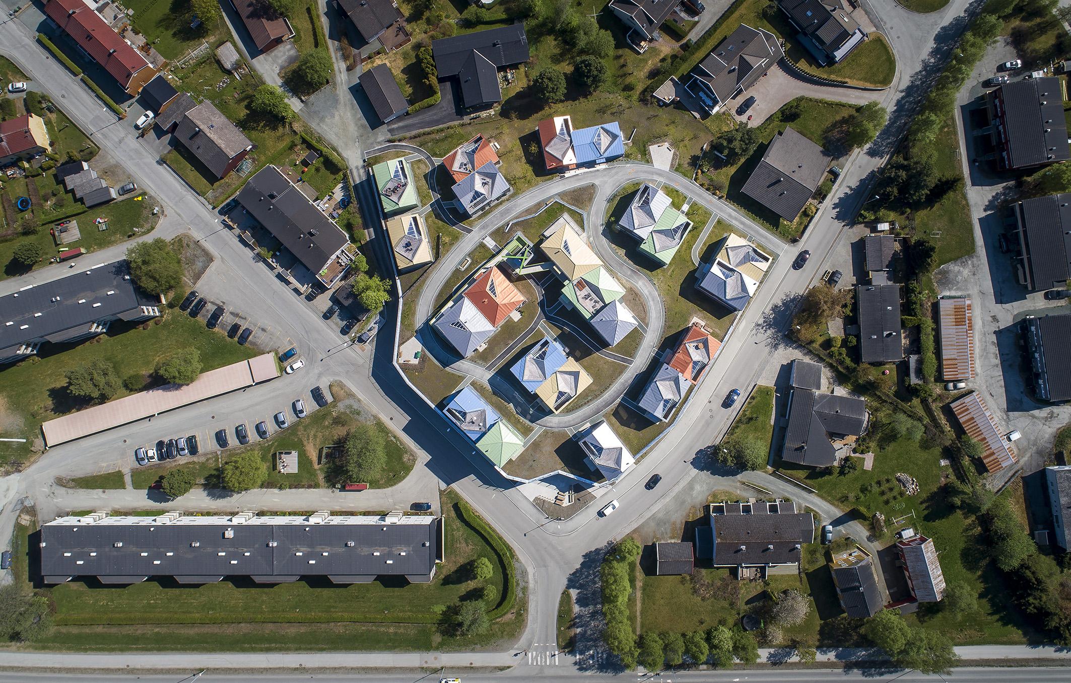 Dronefoto Josefinesvingen